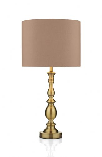 Madrid Antique Brass Table Lamp MAD4275 (Class 2 Double Insulated)